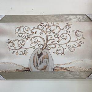 Quadro albero della vita con sacra famiglia moderno