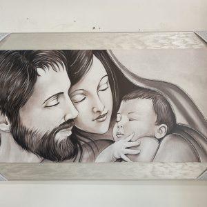 Quadro sacra famiglia moderno